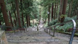 身延山久遠寺の287段の石段。登り切れば涅槃(ねはん)に達するといわれています