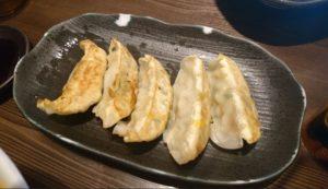 担々麺セット(790円(税別)の餃子