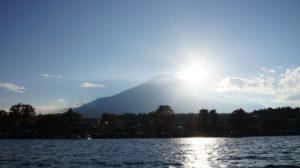 山中湖上からの富士山