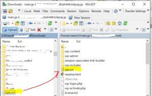 作成したads.txtをドメインのルートレベルのディレクトリに保存