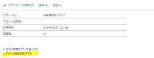 SharePointアンケートライブラリホーム画面