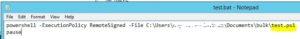 実行用.batファイル内記述例