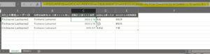 C列にSheet2の日時列から、複数の同じIDがあるユーザーID列の一番下の行の値(退職日)を取得