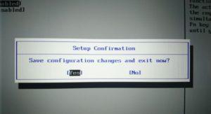 F10→Yesで設定を保存して再起動