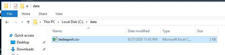 出力されたcsvファイル