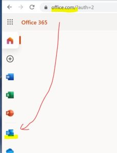 Office.com→OWAの順に展開